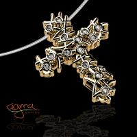 Ασημένιος Σταυρός με πέτρες από ασήμι καθαρότητας