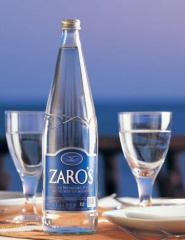 Φυσικό μεταλλικό νερό ZAROS 1lt Γυάλινη φιάλη