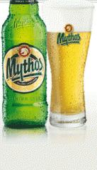 Μπύρα Μythos Lager με πλούσιο αφρό  και λαμπερό