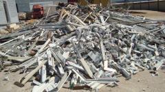 Aluminium extrusions 6063 scrap painted, and