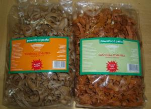 Powerfood pasta with goji berry or sea-buckthorn