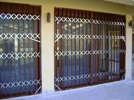Πτυσσόμενη Πόρτα Ασφαλείας Αλουμινίου Τύπος 100