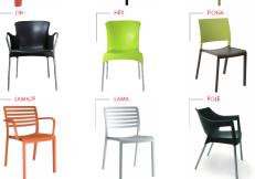 Καθίσματα πολυπροπυλένιο και  πολυκαρμπονικό
