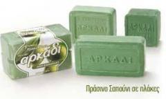 Πλάκες πράσινου σαπουνιού από λιπαρά οξέα
