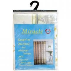 Κουρτίνα μπάνιου Miracle 12 κρίκους