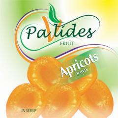 Peeled apricot halves