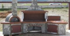 Ψησταρίες κηπου SterCamin ( BBQ- барбекю )Συγκροτημα φουρνου, ψησταριας, παγκου εργασιας