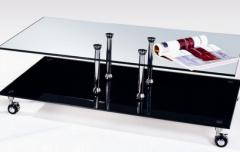 Τραπεζάκι σαλονιού 110x65 με ροδάκια με φρένο.