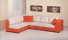 Γωνιακός καναπές με δυνατότητα αμφίπλευρης
