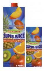 Φυσικός χυμός 8 φρούτων (πορτοκάλι, μήλο, ανανάς, ροδάκινο, γκρέιπ φρουτ, ακτινίδιο, πάσιομ, μάνγκο) Super Juice