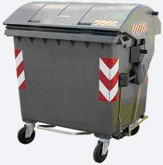 Waste container with standard DIN equipment.
