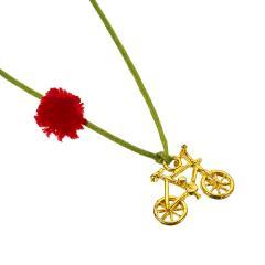 Μενταγιόν ποδήλατο 14k κίτρινος χρυσός