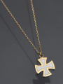 Σταυρός: Κίτρινος χρυσός με σμάλτο