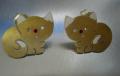 Χειροποίητα σκουλαρίκια από μπρούντζο (άτα) και ασήμι 925 (κούμπωμα σκουλαρικιού)