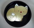 Χειροποίητη καρφίτσα από μπρούντζο (γάτα) και ασήμι (κούμπωμα καρφίτσας και ο κρίκος)