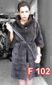 Mink sheared coat with 3/4 sleeves and leather belt