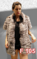 Silver fox vest reversible ( black fox inside)