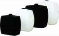 Cisterns, tanks made of polyethylene, plastics, rubber