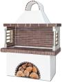 Ψησταριές – Barbeque με καφέ πυρότουβλο, CODE 0102 NEW SXISTOLITHOS.