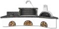 Ψησταριές κήπου – Barbecue garden -  Gartengrill με πάγκο – νεροχύτη, ψησταριά, φούρνο με ξύλα, παραδοσιακό και μαύρο – γκρι πυρότουβλο , CODE NEW 0216 SXISTOLITHOS