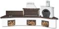 Ψησταριές κήπου – Barbecue garden - Gartengrill - BBQ SET – барбекю - με πάγκο – νεροχύτη, φούρνο με ξύλα, παραδοσιακό και καφέ πυρότουβλο , CODE NEW 0215 SXISTOLITHOS