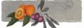 Κορωνεικες ελιες αλασμενες με φρεσκα νεραντζια