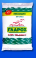 Λευκό, φυσικό κρυσταλλικό θαλασσινό αλάτι μαγειρικής