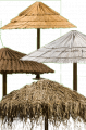 Roofing of natural materials