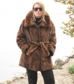 Fur garments of mink and sable pieces