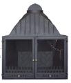 Εστία με Δίφυλλη Πόρτα με Κρύσταλλο Double Door Insert with Ceramic Glass