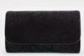Τσαντάκι χεριού από πανί lace με συνδιασμό απο δέρμα λουστρίνι vernice