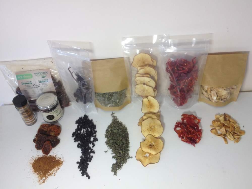 Παραγγελία Αποξήρανση φρούτων, λαχανικών και αρωματικών φυτών
