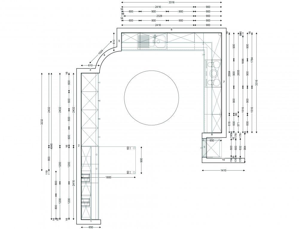 Παραγγελία Σχεδιασμός και τοποθέτηση εντοιχισμένης κουζίνας