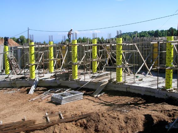 Παραγγελία Cylindric Paper Formworks for concrete